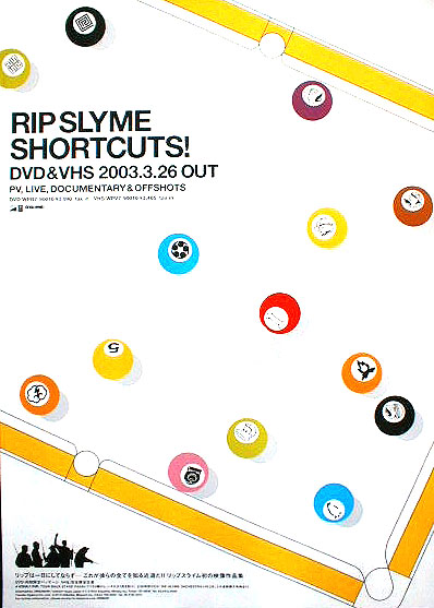 RIP SLYME 「SHORTCUTS!」のポスター