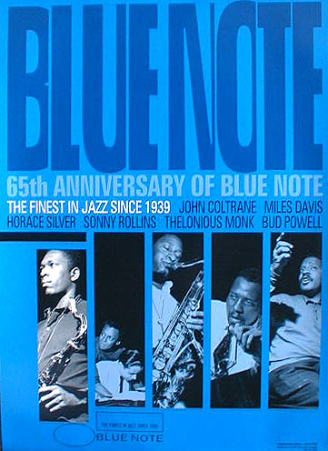 65th ANNIVERSARY OF BLUE NOTEのポスター