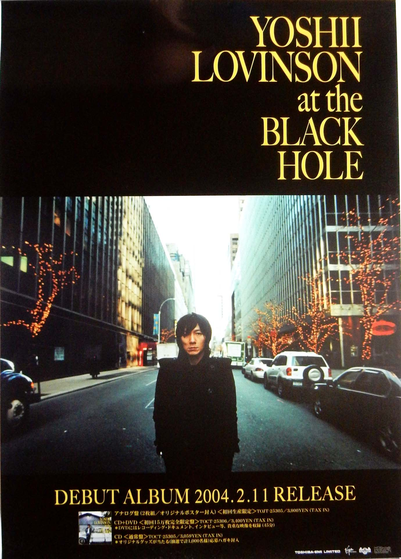 YOSHII LOVINSON 「at the BLACK HOLE」のポスター