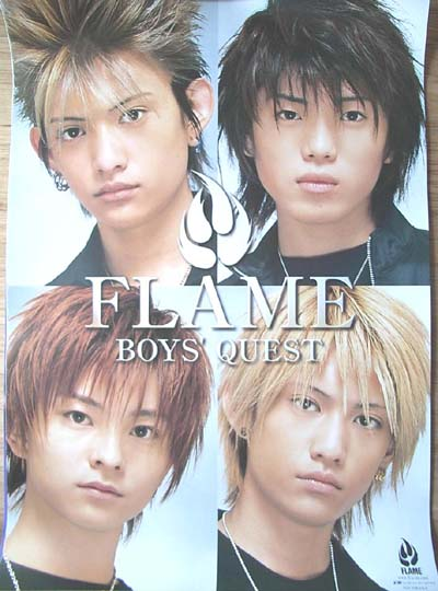 FLAME 「BOYS' QUEST」のポスター