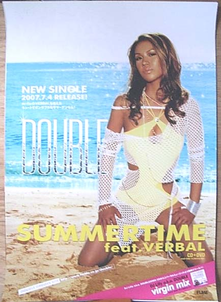 DOUBLE 「SUMMERTIME feat.VERBAL」のポスター