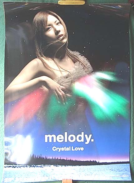 melody. 「Crystal Love」 光沢のポスター