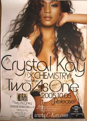 Crystal Kay×CHEMISTRY 「Two As One」のポスター